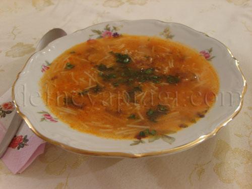 Mantarlı Şehriye Çorbası