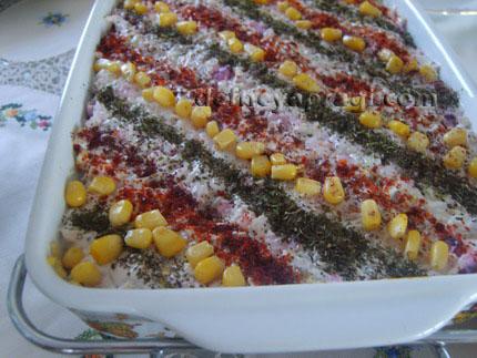 Tavuklu Patlıcanlı Salata